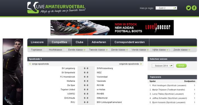 LiveAmateurVoetbal.nl - Real-time live scores - Node.js + Angular.js-competities-png