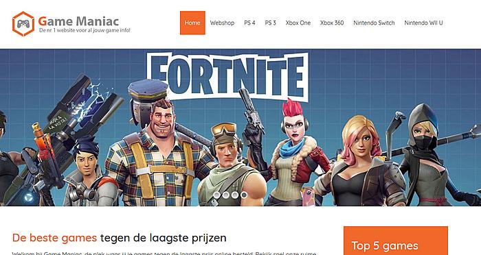 GameManiac.nl   Hele mooie affiliate game website-voorbeeld-game-maniac-jpg